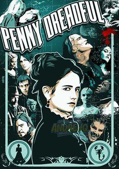 Penny Dreadful - poster vetorial #vector #vetor #tvserie #ilustração…