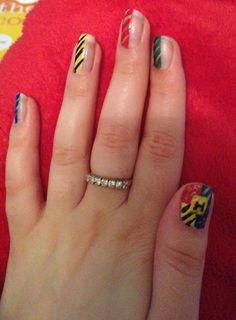 Harry Potter nail art using Rio nail art pens