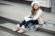 Winter fashion for kids, model kids