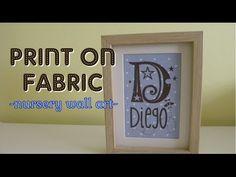 Tutorial de como imprimir con tu impresora un diseño sobre tela. Esta tela es ideal para bebés o niños pequeños por el color y los topos. He impreso un diseñ...