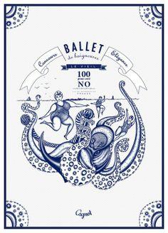 """cagnot-no:  Printed illustration """"Ballet de Baigneuses au Vieil sur l'île de Noirmoutier""""for ©Cagnot branding by Gildas illustrator based in..."""