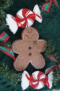 Peppermint and Gingerbread Christmas Garland