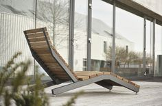 Deck chairs for public spaces Rivage by Mmcité