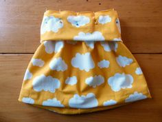 Bubble skirt for girls - no hemming!  For knit fabric