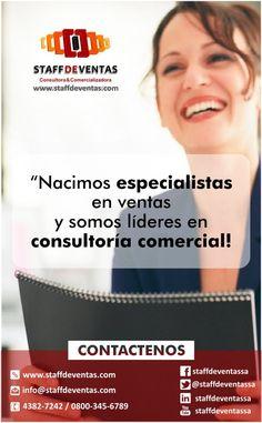STAFF DE VENTAS Consultora y Comercializadora http://www.staffdeventas.com/