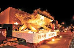 Church Christmas Floats | First United Methodist Church with their 'Happy Birthday Jesus' float ...