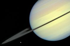 Hubble captures the moons of Saturn.