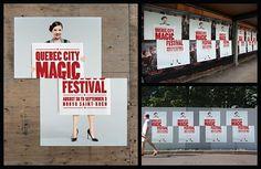 Outdoor ad: Quebec City Magic Festival: Sliced Girl