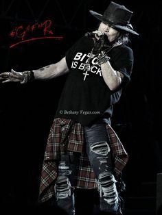 Axl Rose of Guns N' Roses, summer 2016