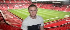 Wayne Rooney inside Old Trafford, the Theatre of Dreams.
