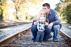 Family on railroad tracks #photography