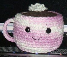 Amigurumi Food: Hot Chocolate-Free Pattern http://dishclothdiaries.blogspot.co.uk/2009/01/hot-chocolate-amigurumi.html