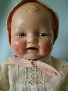 "Antique Horsman Composition Baby Dimples Doll High Color Tin Sleep Eyes BIG19"" | eBay"