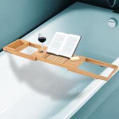<b>Cette tablette pour baignoire de salle de bain extenssible vous permettra d'être confortablement installé dans votre bain tout en lisant ou buvant ! De quoi profiter un maximum de votre bain !</b>