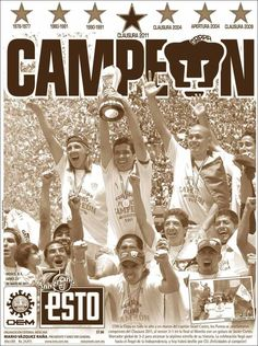 Pumas Campeón 2011// que se repita no? Football Mexicano, Champion, Soccer, Comics, Posters, Big, Fitness, Happy, Soccer Players