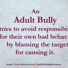 If someone is bullied it doesn't mean they are weaker or not as smart as the bully. Bullying is usually done to cause the Bully to feel superior. It just means that the bully has no morals. Life Quotes Love, True Quotes, Great Quotes, Quotes To Live By, Inspirational Quotes, Karma Quotes, Poem Quotes, Amazing Quotes, Adult Bullies