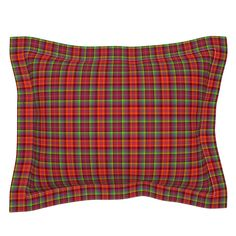 micro BRIGHT FRUITY PLAID MADRAS RED on Sebright by paysmage | Roostery Home Decor Euro Shams, Pillow Shams, Pillows, Spoonflower, Pillow Covers, Cotton Fabric, Bedding, Fabrics, Plaid