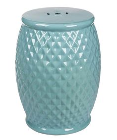 Look at this Robbins Egg Tufted Marina Ceramic Garden Stool on #zulily today!