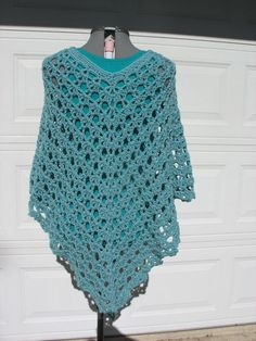 Plus Size Crochet Lacy Poncho Cover Up for Women or by more2adore