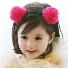 Pom Pom Bear Headband (Hot Pink)