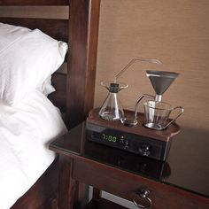 The Best Part of Waking Up is This Coffee-Brewing Alarm Clock