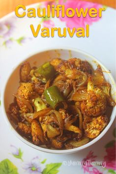 Super delicious cauliflower varuval which taste not only yummy but is super easy to make. This makes a great side dish for rice and gravy.