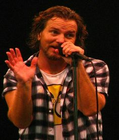 """What I imagine Eddie Vedder is saying in this photo: (in a teenage girl voice) """"Seriously girl, you look amazing in those jeans""""."""