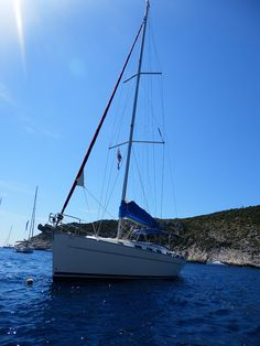 Your yacht awaits beneath the warm midday sun and the turquoise tinted waters with Get Away Sailing in Croatia