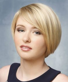Short Hairstyle - Straight Formal - Light Blonde   TheHairStyler.com