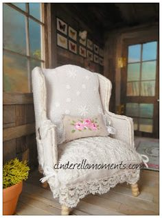 Cinderella Moments: Chairs and a Bed, link to chair template
