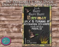 5X7 Duck Dynasty Invitation  Printable Duck by NeatAndSweetDesigns, $12.00