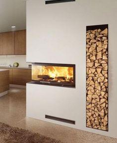 Tv Above Fireplace, Home Fireplace, Modern Fireplace, Living Room With Fireplace, Cozy Living Rooms, Fireplace Design, Interior Decorating, Interior Design, Cool Walls