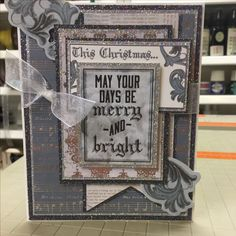 Christmas card, Frosted paper by kaisercraft.