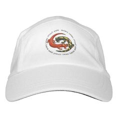 Two Colourful Smiling Salamanders Cartoon And Text Headsweats Hat - animal gift ideas animals and pets diy customize
