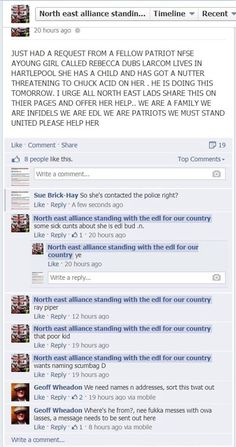 So, if you're threatened with an acid attack, you should immediately call the #EDL. Said no one, ever...