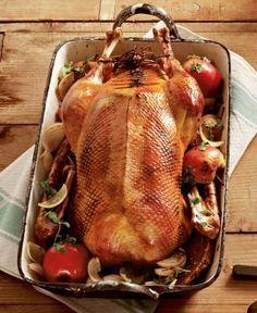 Weihnachtsgans mit Apfel-Rotweinsoße Rezept als Hauptgang für ein weihnachtliches Festmahl