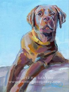"Daily Paintworks - ""Dexie"" - Original Fine Art for Sale - © Kimberly Santini"
