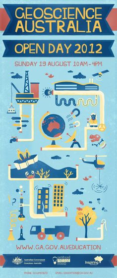 Geoscience Australia 2012 Open Day Poster #graphicdesign #illustration #poster