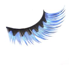 1 Pair Blue Black Wavy Halloween Costume Party Supplies Colorful... ❤ liked on Polyvore featuring beauty products, makeup, eye makeup and false eyelashes