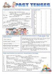 English worksheet: PAST TENSES