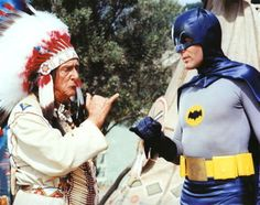 Vintage superheroes: Edward Everett Horton as Chief Screaming Chicken and Adam West as Batman Batman Cast, Real Batman, Batman Tv Show, Batman Tv Series, Im Batman, Batman Robin, Superman, Dc Comic Books, Comic Book Characters