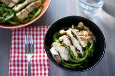 Chicken Pesto Pasta Recipe [paleo, primal, gluten-free]