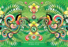 """Volver a la jungla tropical, exótica y poderosa.  Volver a su flora tupida de orquídeas coloridas y verde infinito multicolor, a sus animales eternos, a su armonía de latido ancestral. Volver a la jungla de mi Colombia natal, esa jungla que es mitad realidad, mitad sueño.  Ilustración para el perfume """"Paradise Elixir"""" de @shakira Shakira, Paper Art, Flora, Tropical, Perfume, Graphics, Drawings, Xmas, Infinite"""