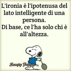 Immagini di Snoopy per WhatsApp - ImmaginiFacebook.it Snoopy Comics, Funny Comics, Me Quotes, Funny Quotes, Quotation Marks, Cartoon Dog, Vignettes, Einstein, Sleep