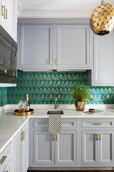 Schumacher Rampura Turquoise Wallpaper