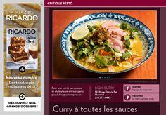 Bighi Curry : curry à toutes lessauces - La Presse+ Restaurants, Sauces, Chicken, Food, Cheese Plant, Essen, Restaurant, Meals, Gravy