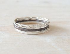 Athena Ring Set in Sterling Silver // Set of by NicoleScheetz, $39.34