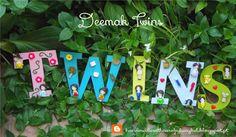 Deemak Twins: Letras, Nomes, Palavras ! Letters, Names, Words