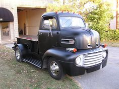 1948 Ford COE - built on 1-ton Chevy chassis, w/ 350, 200R4 trans, 4 speed auto, air ride on the back, springs front.