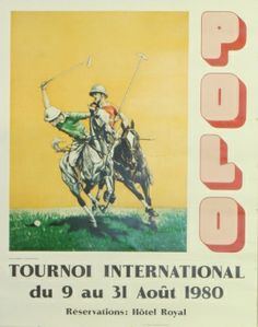 Polo International Tournament, 1980 - original vintage poster listed on AntikBar.co.uk
